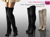FULL PERM CLASSIC MESH Ladies Black and Beige Suede Over Knee Mid Thigh High Heel Boots