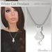 (Caroline's Jewelry) White Cat Pendant Necklace (no transfer)