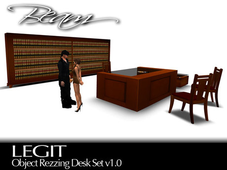 BEAM - LEGIT - Object Rezzing Office Desk Set v3.0
