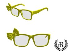 The Rove - yellow glasses with a bow
