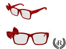 The Rove -  red glasses with a bow