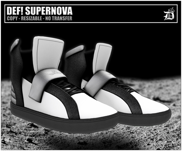 DEF! Unisex Sneakers / Supernova / White & Grey