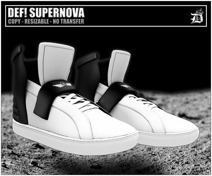 DEF! Unisex Sneakers / Supernova / White & Black