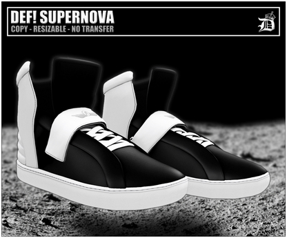 DEF! Unisex Sneakers / Supernova /Black & White I