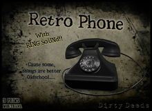 ~Dirty Deeds~  Retro Phone - Black (Now with RING Sound!)