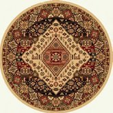 AFantasy Creams & Browns Circular Area Rug