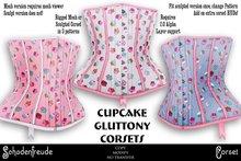 Schadenfreude Cupcake Gluttony Corsets