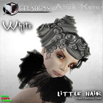 [AD] Little rose goth hair WHITE 180