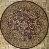 AFantasy Olive-Gold-Browns Floral Modern Circular Area Rug
