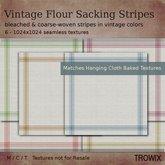 Trowix - Vintage Flour Sacking Stripes Textures