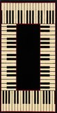 AFantasy Piano Keys Area Rug