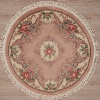 AFantasy Mauve with Pink Roses Circular Area Rug