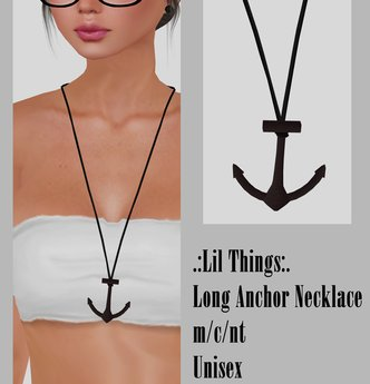 Long Necklace.Anchor [Boxed]