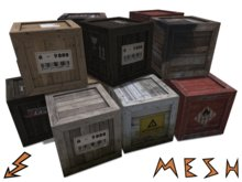 Mesh Crate / Wooden Box in 6 variants