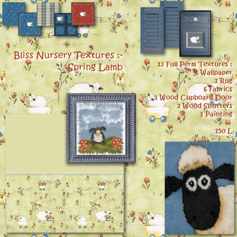 Bliss Nursery Textures - Spring Lamb - Box