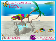 Sand Castle and Baby Pool ( Zooby's Stage 26 )