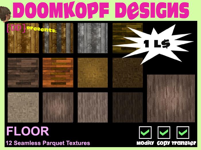 [DD] Floor Textures ^ 12 Parquet Floors ^ Full permission Seamless Wood Floor Texture
