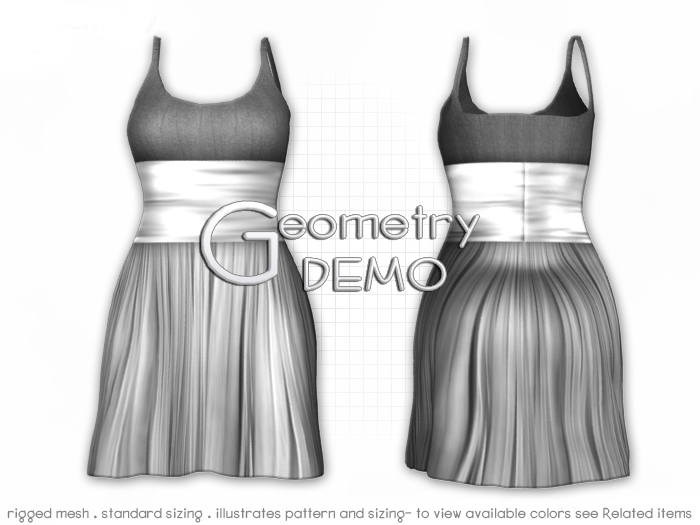 <Geometry DEMO> Serena ( rigged mesh in standard sizing )
