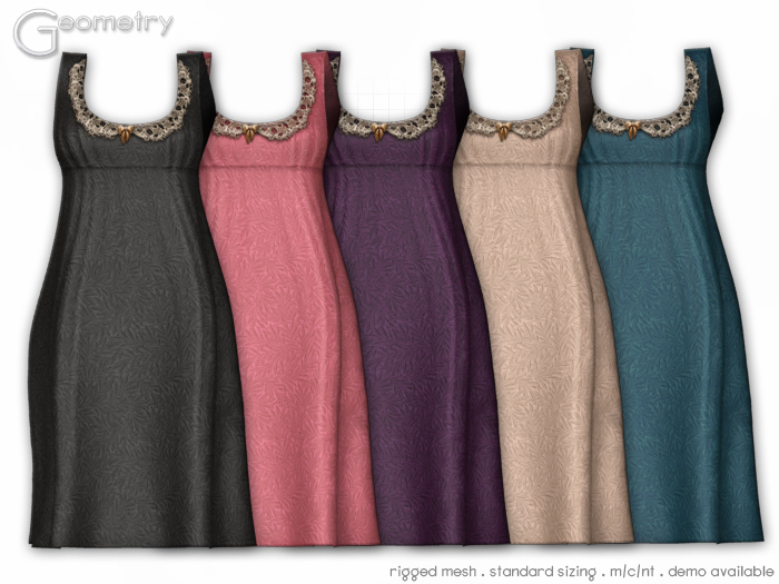 <Geometry> Priss ( rigged mesh in standard sizing ) 5 Color Set
