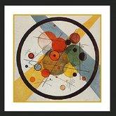 AFantasy Circles in Circle Contemporary Framed Art