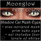 Ephemeral Neko - Shadow Cat Mesh Eyes (Moonglow, FREE COLOR)