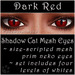 Ephemeral Neko - Shadow Cat Mesh Eyes (Dark Red)