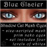 Ephemeral Neko - Shadow Cat Mesh Eyes (Blue Glacier)