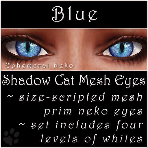 Ephemeral Neko - Shadow Cat Mesh Eyes (Blue)
