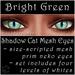 Ephemeral Neko - Shadow Cat Mesh Eyes (Bright Green)
