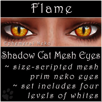 Ephemeral Neko - Shadow Cat Mesh Eyes (Flame)