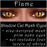 Ephemeral Neko - Shadow Cat Mesh Eyes (Flame)