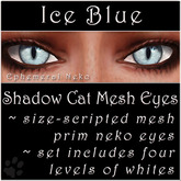 Ephemeral Neko - Shadow Cat Mesh Eyes (Ice Blue)