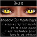 Ephemeral Neko - Shadow Cat Mesh Eyes (Sun)