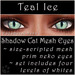 Ephemeral Neko - Shadow Cat Mesh Eyes (Teal Ice)