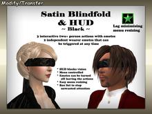 Satiated Desires: Black Satin Blindfold & HUD