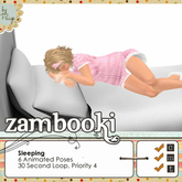 Zambooki Animations - 6 Sleeping Animations