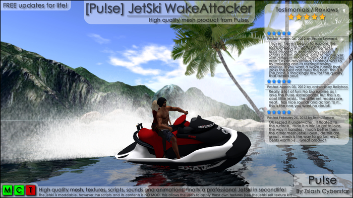 [Pu!se] Jet Ski Wake Attacker - ***SUPER SALE***