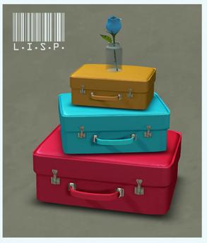 Pinky Boo Suitcases - Brights (LISP Bazaar)