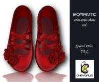 Chrysalis - Romantic criss-cross red *Discount*