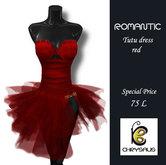 Chrysalis - Romantic Tutu dress red *Discount*