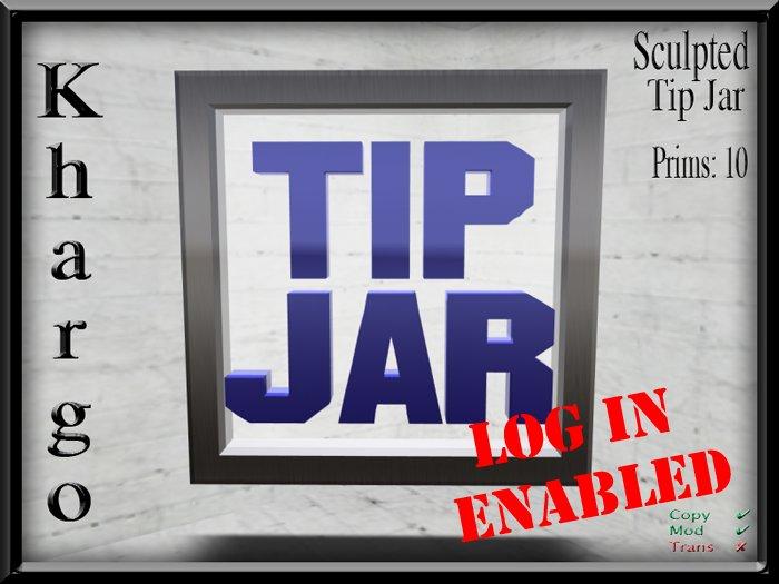 Khargo: Sculpted Tip Jar / Tipjar - Log In Version for Clubs / Employees / Split Tips