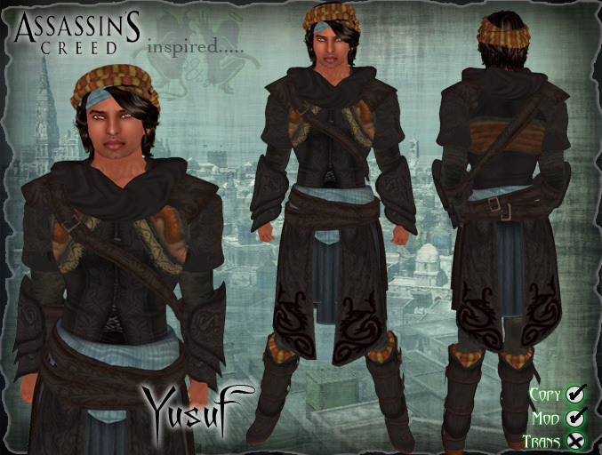 Second Life Marketplace D A Assassin S Creed Yusuf Mens Outfit