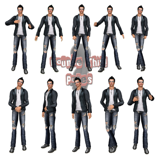 Bounce This Poses - Male Pose Pack 1