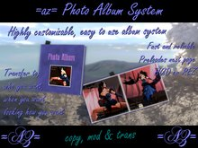 =az= Photo Album System - COPY MODIFY TRANSFER - Customizable Photo Album - Unlimited Number of Unique Albums - SALE