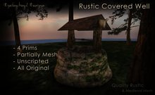 [DDD] Covered Rustic Well (4 Prims)