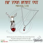 Rip Your Heart Out - Male Necklace