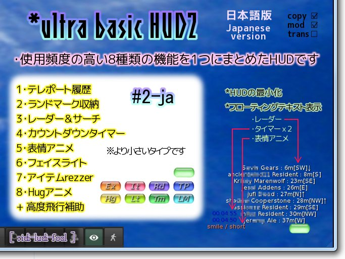 Easy and Convenient Multifunctional HUD (Japanese version #2)★ Radar, Expression, Item Rezzer, Face Light and more!