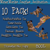 WaterWorks Couples Animations 10 Pack! - Transfer