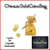 Chinese Gold Coins Bag - 2D Decoration