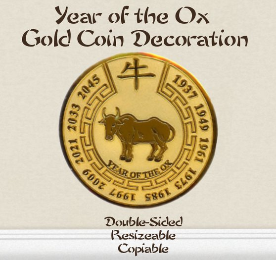 Chinese Gold Coins - Year of the Ox